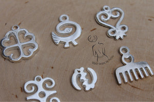 Silver Adinkra Charms