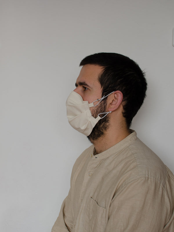 Natural Pleated Face Mask
