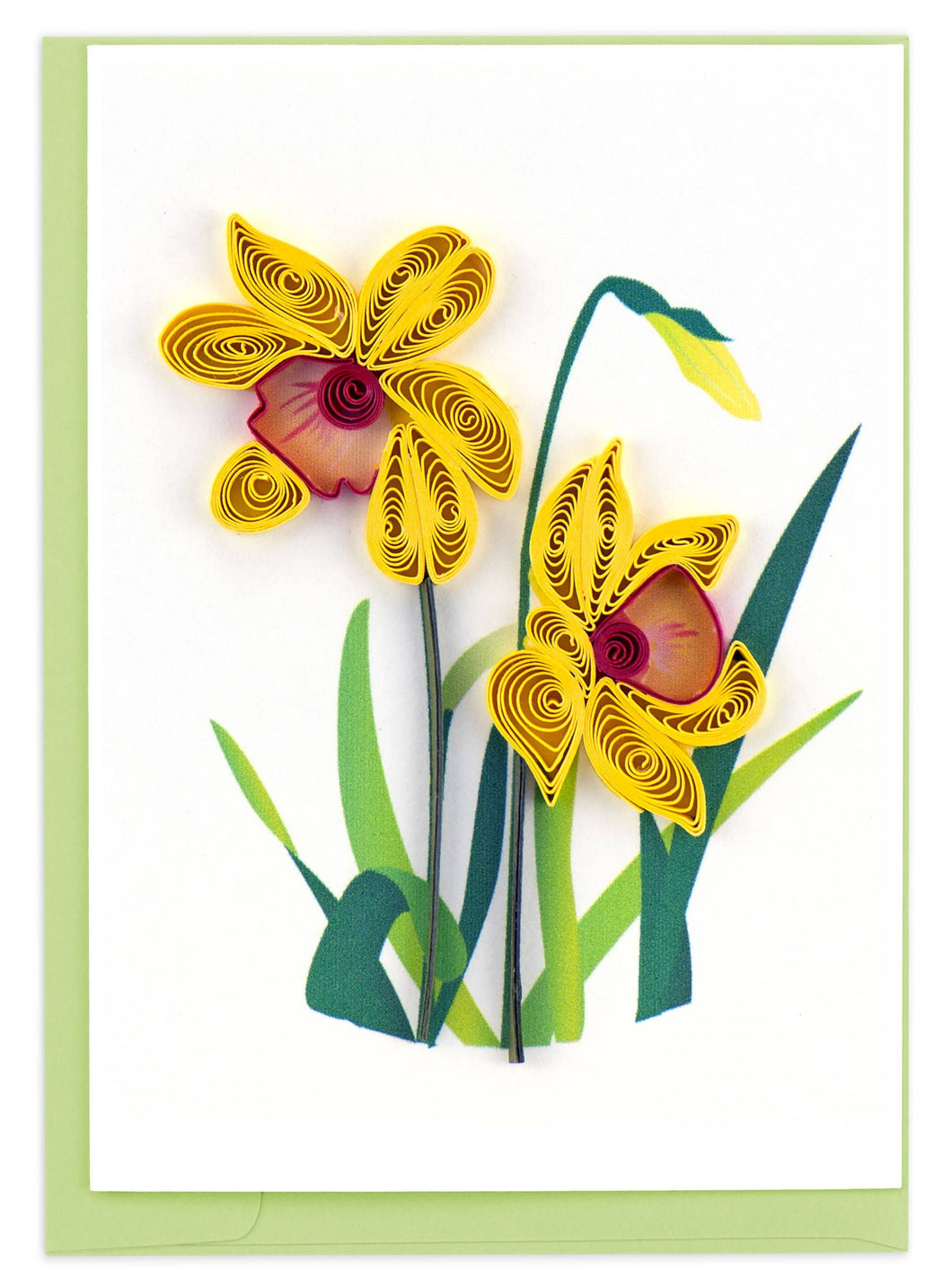 Quilling Card - Daffodil Gift Enclosure