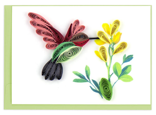 Quilling Card - Hummingbird Gift Enclosure