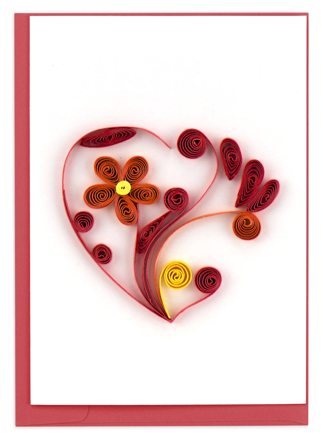 Quilling Card - Heart Gift Enclosure