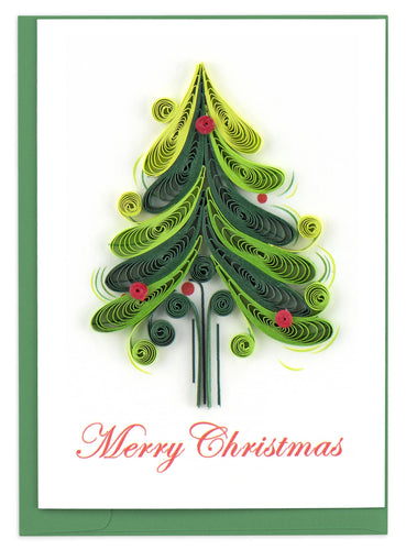 Quilling Card - Christmas Tree