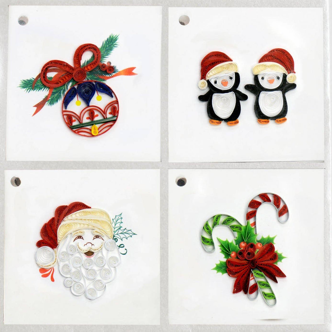 Quilling Card - Jolly Santa Gift Tag Box Set