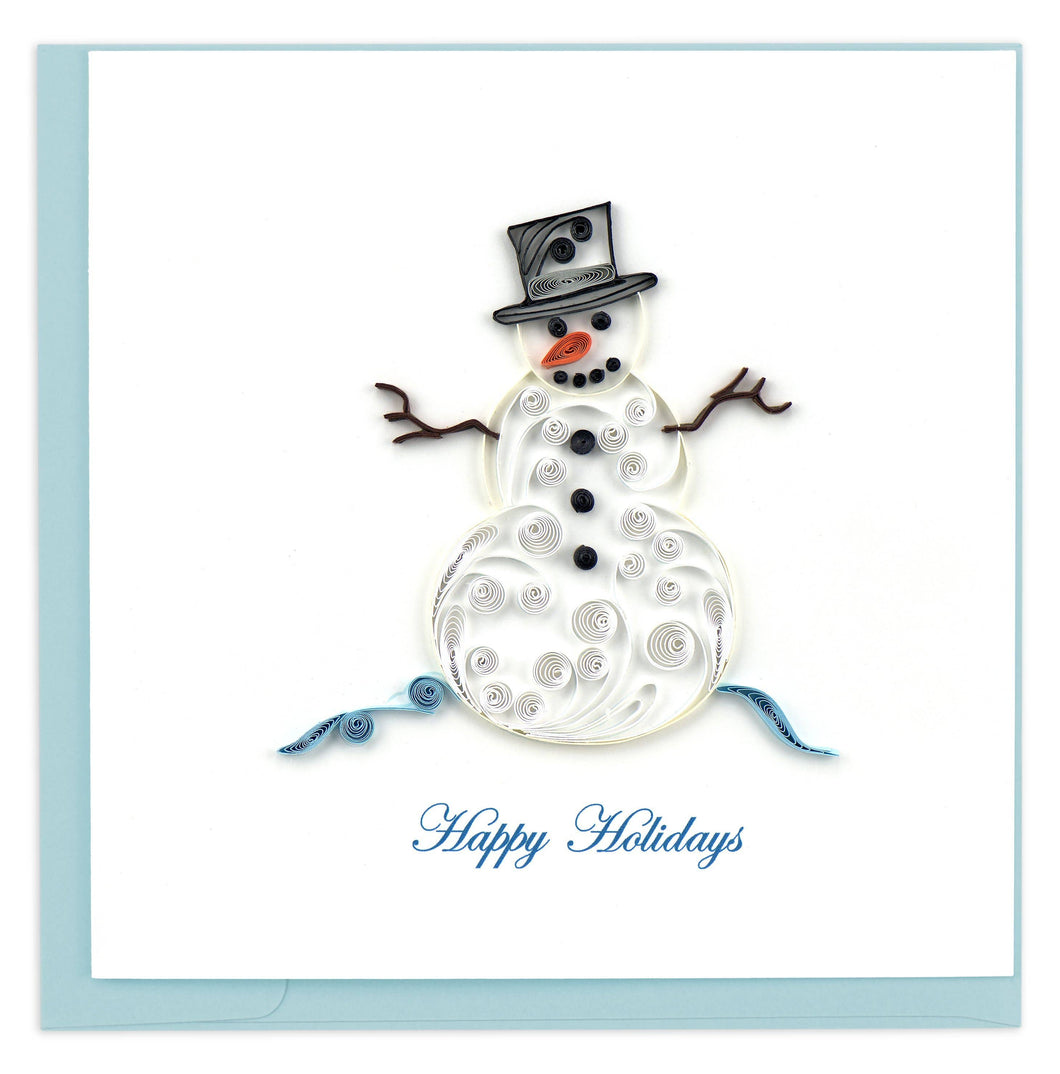 Quilling Card - Snowman