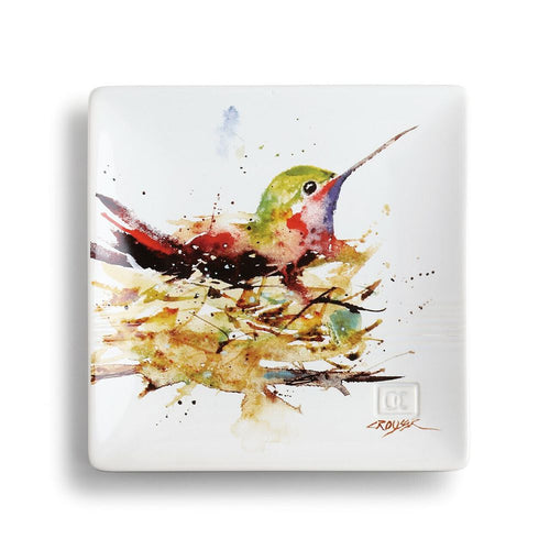 DC Hummingbird in Nest Snack Plate