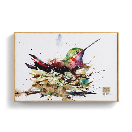 DC Hummingbird in Nest Wall Art