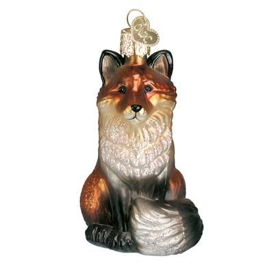 OWC Fox Glass Ornament