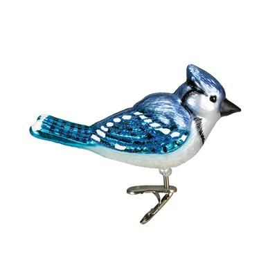 OWC Bright Blue Jay Ornament