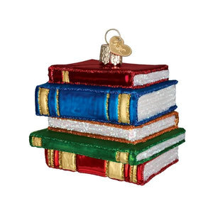 OWC Stack of Books Ornament