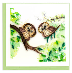 Quilling Card - Owlets
