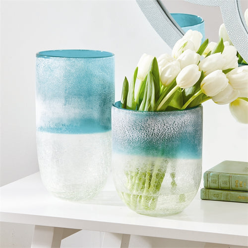 Frosted Crackle Vase