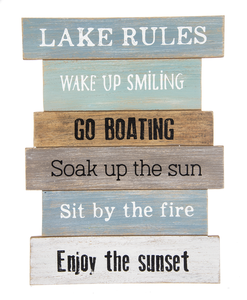 Lake Rules Staggered Sign