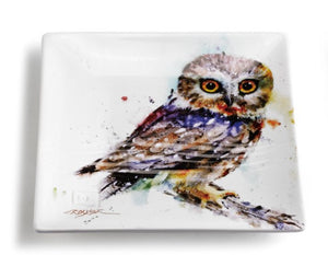 DC Saw Whet Owl Snack Plate