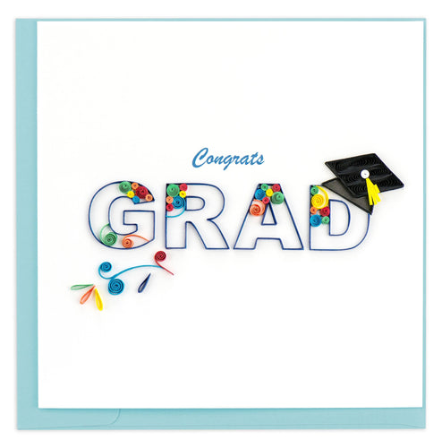 Quilling Card - Congrats Grad Swirl Card