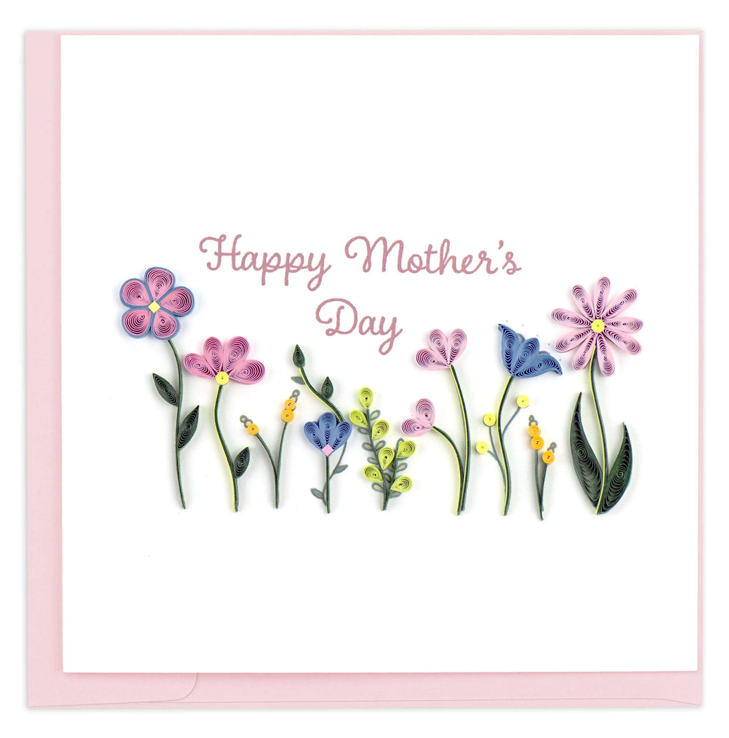 Quilling Card - Mother's Day Wildflowers