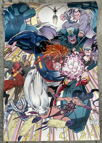 WILDC.A.T.S. Convention Booth Banner • Jim Lee • Wildstorm