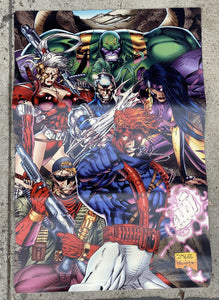 Wildstorm Fine Arts Convention Booth Banner • Jim Lee • Wildstorm