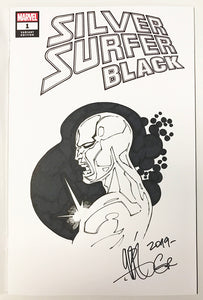 Original Silver Surfer Black #1 Sketch Cover By Gabriel Rodríguez & Skype Chat Access