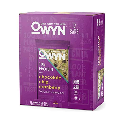 OWYN - Chocolate Chip Cranberry Bars 12 Pack