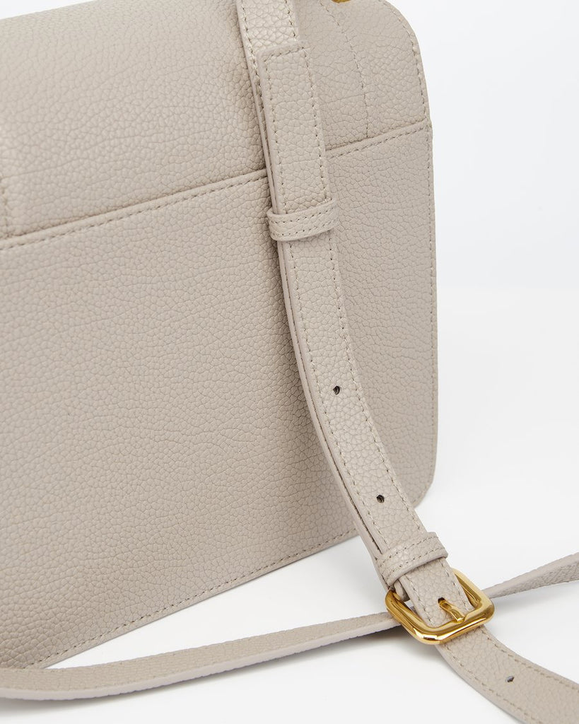Rear view of The Fiona Bag Grey crossbody vegan bag.