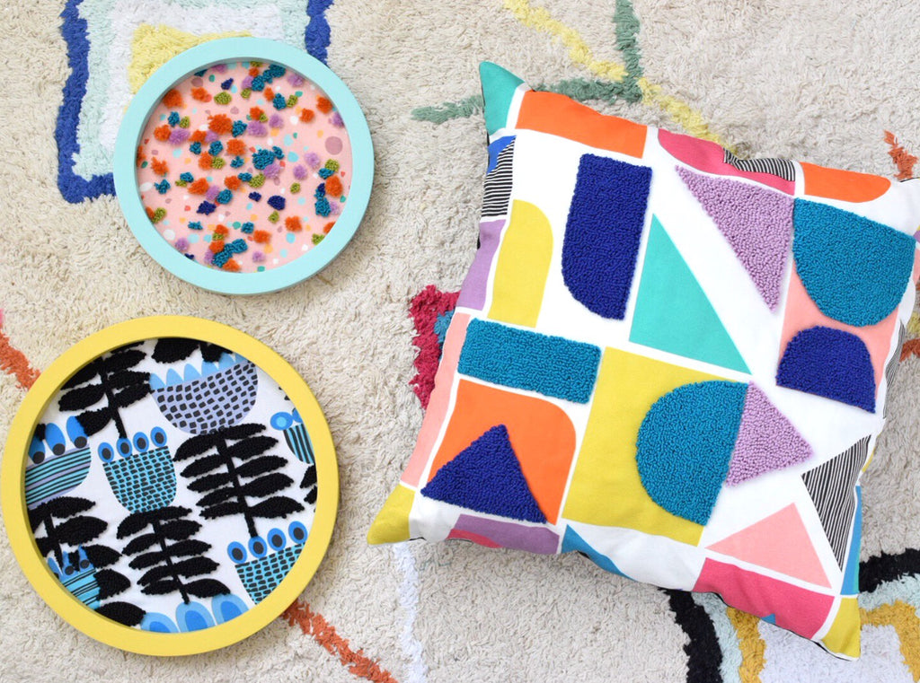 Learn how to do punch needle on Spoonflower fabric