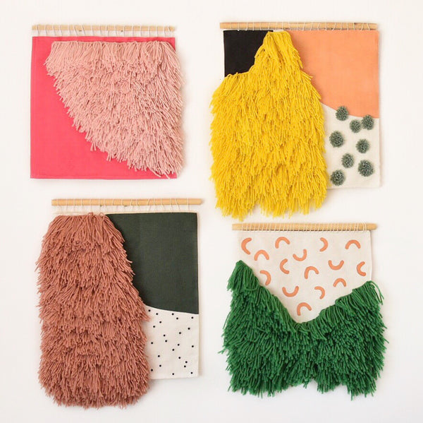 Wall hangings by textile artist Allie Padgett