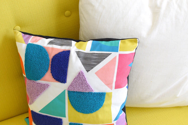 How to punch needle embroider on Spoonflower fabric by Allie Chenille