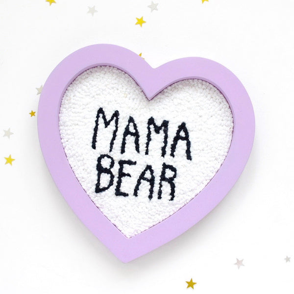 mama bear punch needle art