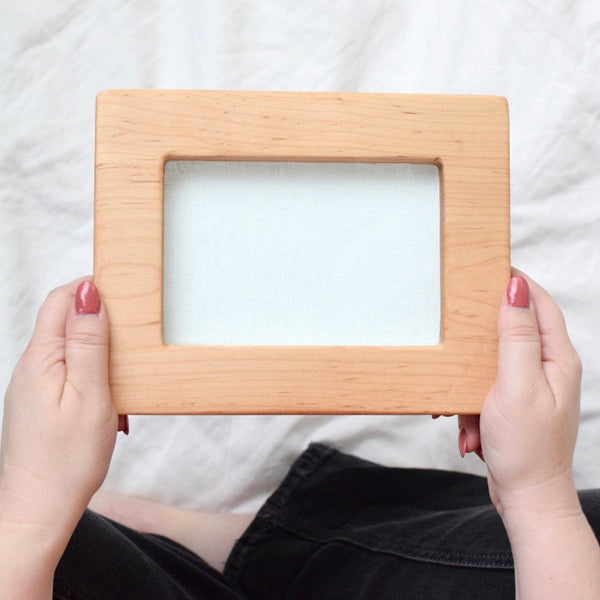 Maple rectangle embroidery frame (wide)