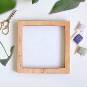 Maple square embroidery frame (slim)