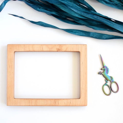 Maple rectangle embroidery frame (slim)