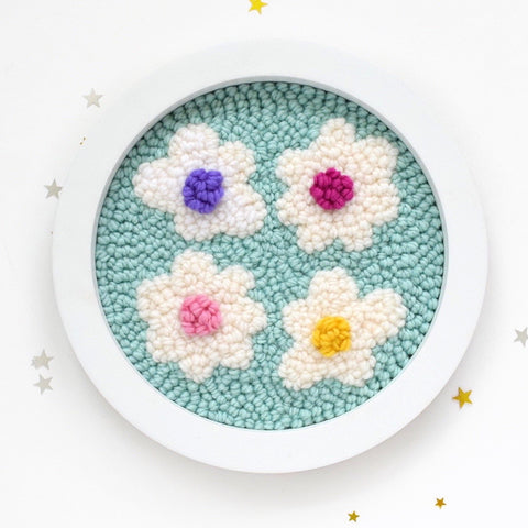 daisy punch needle art