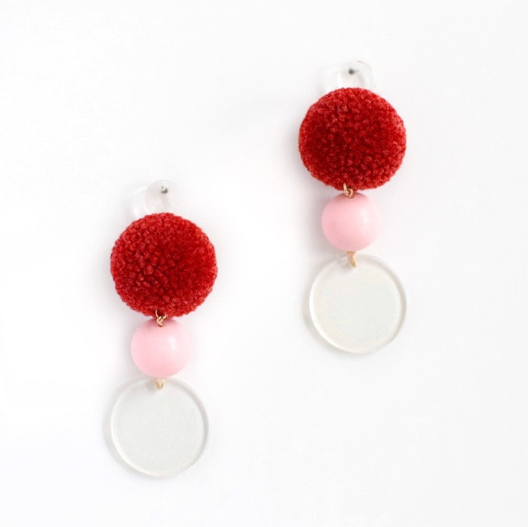 pom pom earrings