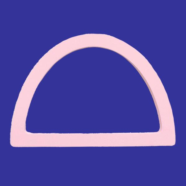 Semicircle embroidery frame