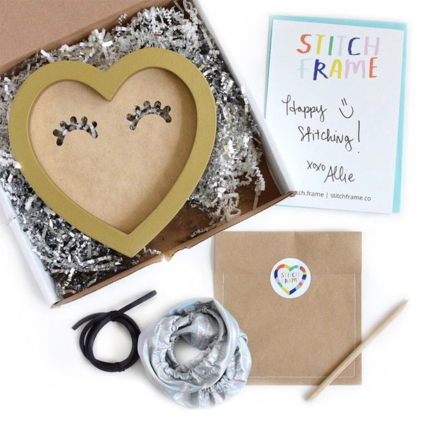 Packaging for Stitch Frame: ready-to-hang embroidery frames