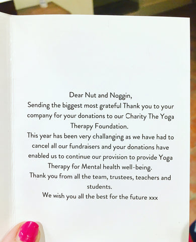 Yoga therapy foundation and Nut and Noggin charity