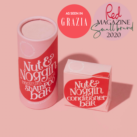 Subscribe and save £10 with Nut and Noggin's shampoo and conditioner bar set