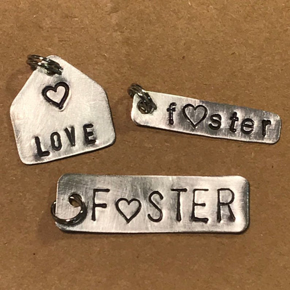 Foster Family FUNDRAISING OPPORTUNITY - Hand Cut Metal Stamped Pendant Charm
