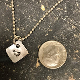 Tiny Hand Cut Metal Stamped Cheerleading Pendant Charm
