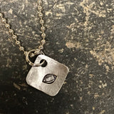 Tiny Hand Cut Metal Stamped Football Pendant Charm