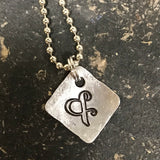 FUNDRAISING OPPORTUNITY Tiny Hand Cut Metal Stamped Ampersand Pendant Charm