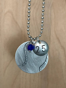 Custom Hand Cut Metal Stamped Tennis Necklace