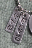 Metal Stamped Custom Personalized Date Necklace