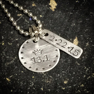 Princess Run Half-Marathon Metal Stamped Necklace