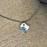Tiny Hand Cut Metal Stamped Basketball Pendant Charm