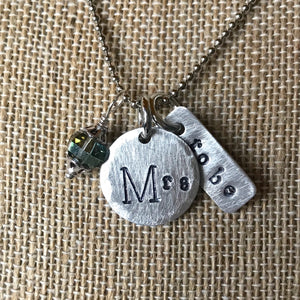 Mrs and Mrs To Be for the Bride and Bride To Be  Custom Metal Stamped Hammered Necklace