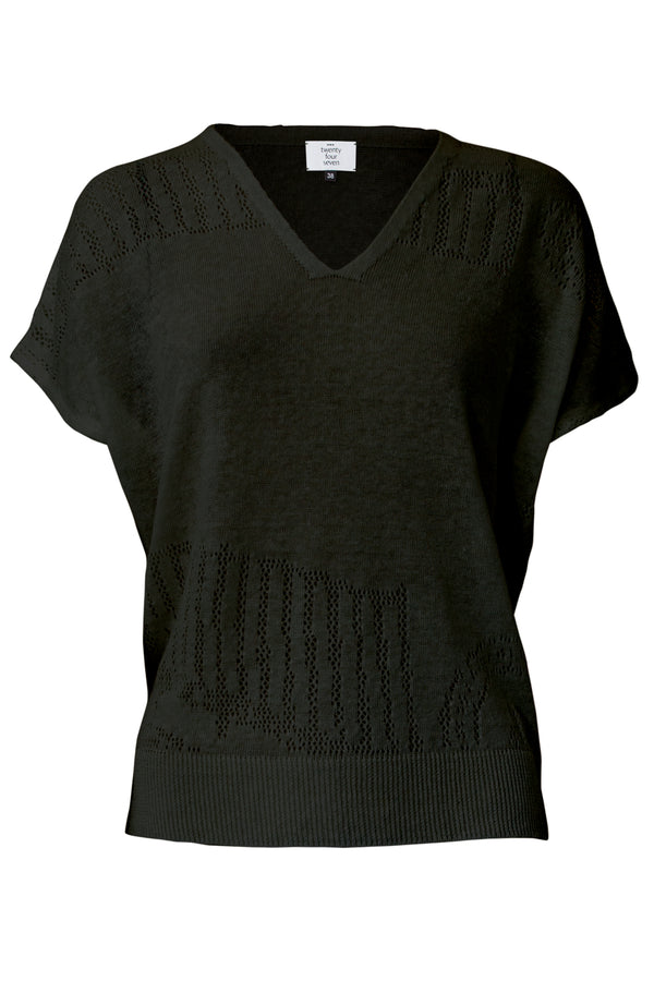 T-Shirt 2.4 in Schwarz