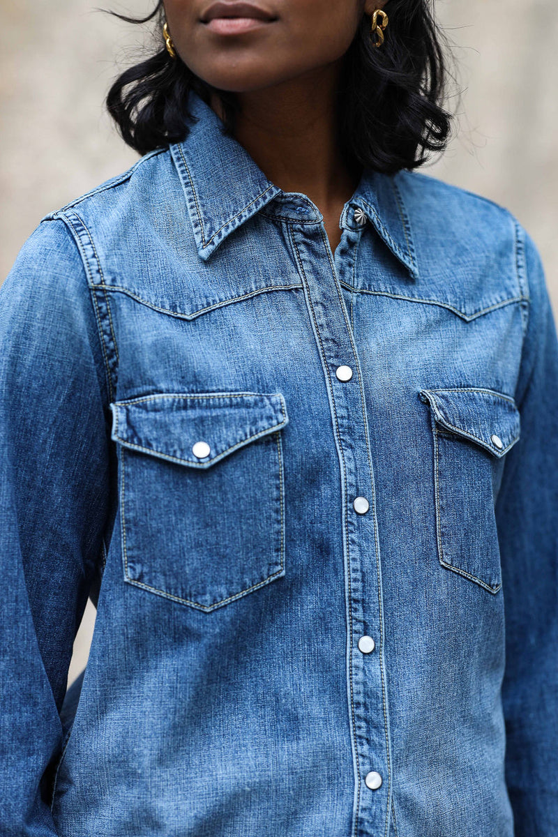 Bluse Travis aus Denim