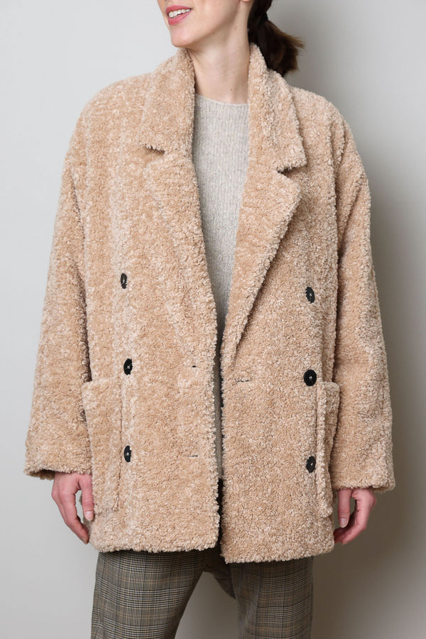 Mantel aus Eco Shearling