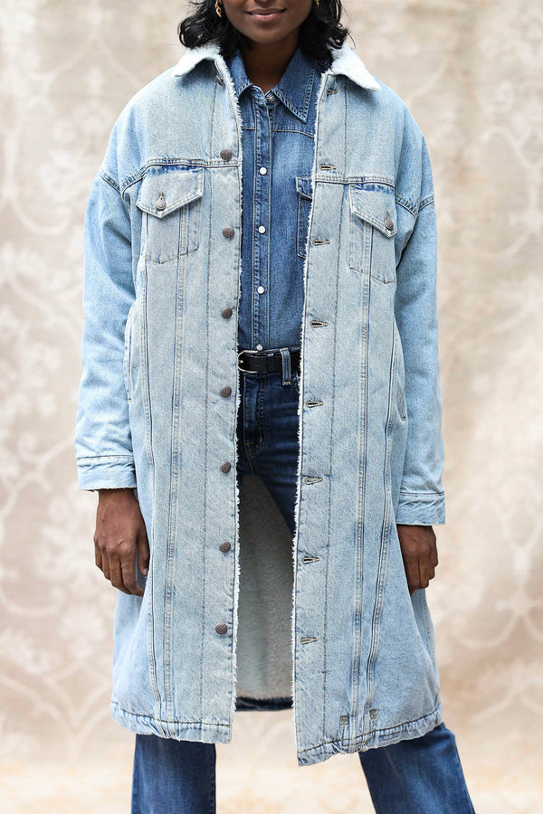 Mantel Lyle aus Denim